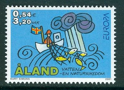 ALAND 2001 stamp Europa Water Resources um (NH) mint Fish Fishing Flags