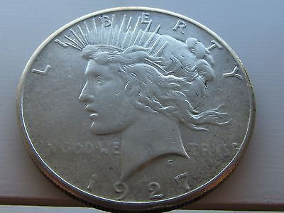 USA America Peace Silver Dollar 1927. Grade As Pictures.