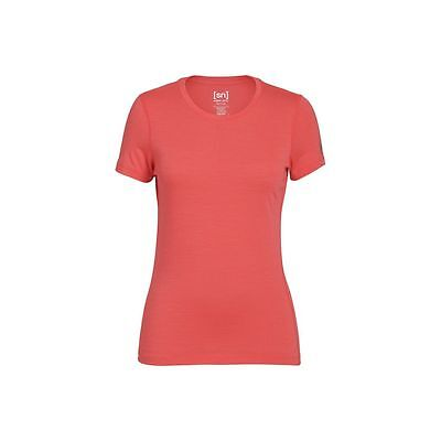 Super.Natural Base Tee 175 Damen Merino Funktionsunterwäsche rot