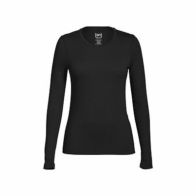 Super.Natural Base 175 Langarmshirt Damen Merino Funktionsunterwäsche schwarz