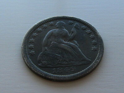 USA United States Half Dime 1849 over wide 6 Dark Tone, Grade As Pictures.
