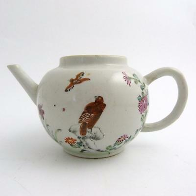 18Th Century Chinese Porcelain Export Ware Teapot, Eagle On Rocks