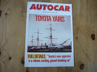 Toyota Yaris brochure produced by Autocar, 1999, very good condition
