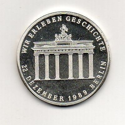 Germany Silver Medal Opening of the Brandenburg Gate 22.12.1989