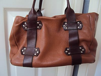 Rare Valentina By In Pell Soft Leather Tan Beautiful Bag