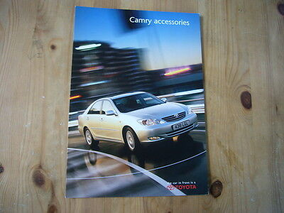 Toyota Camry accessories folder brochure, 2001, excellent condition