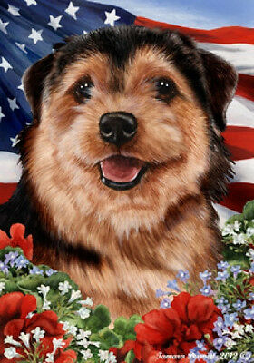 Garden Indoor/Outdoor Patriotic I Flag - Norfolk Terrier 162251