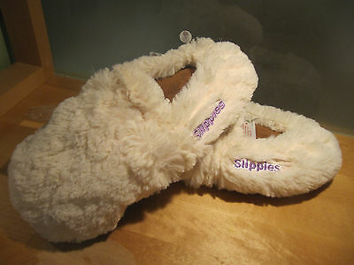 Warmies Slippies Deluxe Creme Gr. M