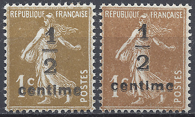 France Timbre Type Semeuse N°279A + N°279B Neuf ** Luxe Mnh