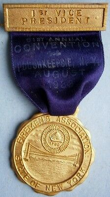 1ST Vice President - 1933 City of Poughkeepsie, Firemens Convention  Medal