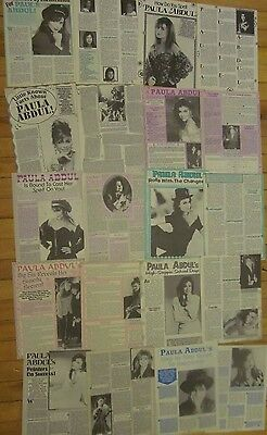 Paula Abdul, Lot of TEN Two Page Vintage Clippings