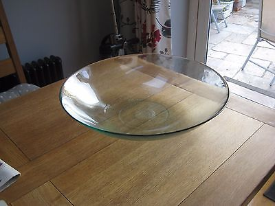 Very Large Glass Bowl...table Centrepiece....glass Dish For Coffee Table