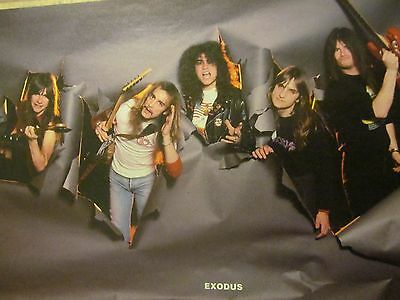 Exodus, Helloween, Double Full Page Vintage Pinup