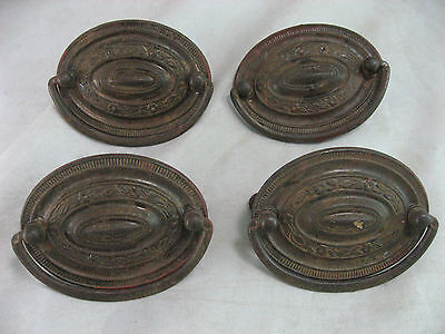 Antique Drawer Handle Pulls Set of 4 Misc Salvage Shabby