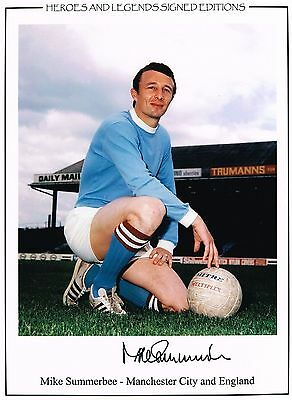 Mike Summerbee signed Football photo authentic autograph AFTAL dealer M095