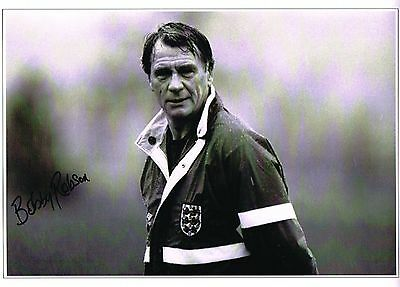 Bobby Robson signed Football photo authentic autograph AFTAL dealer M195