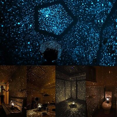 2 Colors Surprising Night Light Baby LED Adult Science Bedside Lamp Star Light