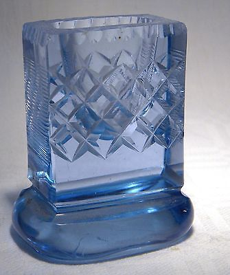 Art Deco Blue Glass  Match Striker Holder