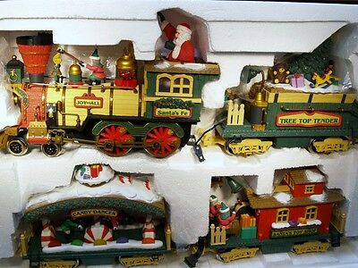 New Bright Holiday Express Christmas G Gauge Electric Train Set-Ready To Run