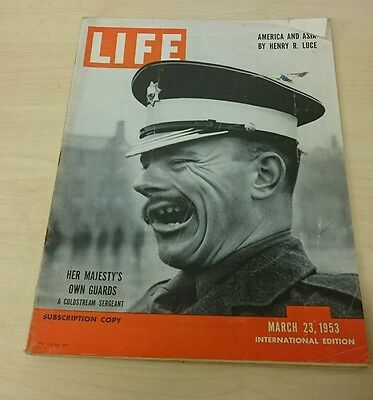 Vintage Life Magazine International Ed - March 23 1953 Her Majesty's Own Guards