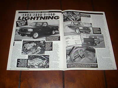 1993 Ford Lightning F150 Muscle Truck   - Original Article