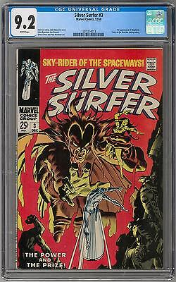 Silver Surfer #3 CGC 9.2 (W) 1st Mephisto Appearance