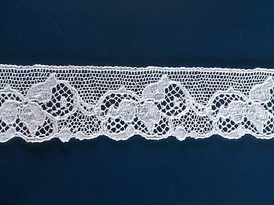 Delicate White British Pretty Cluny Cotton Lace Edging Dress Trim Lingerie Craft