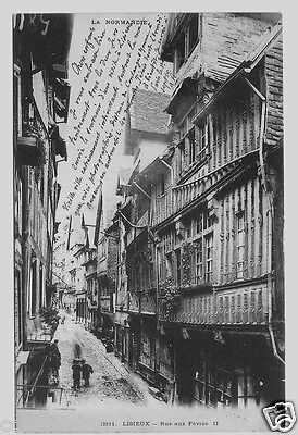 14 - Cpa - Lisieux - Rue Aux Feves - Dos Simple 1904 - Tbe