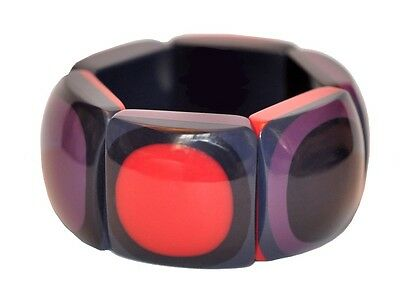 Fab Chunky Designer Resin Expandable Bracelet With Dots