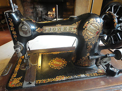 Antique Serial No:109077 (C1893) Jones CS Queen Alexandra Hand Sewing Machine