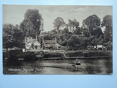 Frith's vintage B&W PC Worcester, Dog and Duck Ferry. Unposted. 1906.