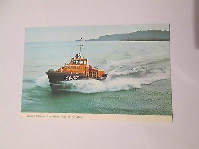 """Postcard of Whitby Lifeboat """"The White Rose of Yorkshire"""" 1982"""