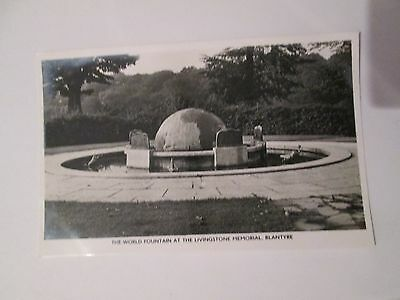 Postcard of Blantyre, The world fountain at the livingstone memorial RP unposted