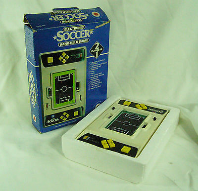 ENTEX LED ELECTRONIC Soccer - Hand Held Vintage Electronic Game - boxed