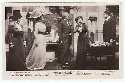 BELLAMY THE MAGNIFICENT - Kate Cutler / Charles Wyndham - UK Play 1909 postcard