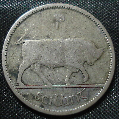 Ireland 1928 Silver Shilling Clear Date Collectable Coin