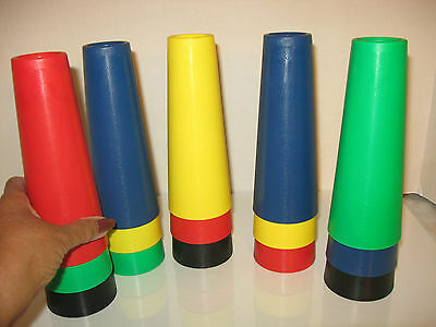 THERAPY 15 PC PLASTIC CONES FINE MOTOR SET 7 in.CHILD OR ADULT - NEW
