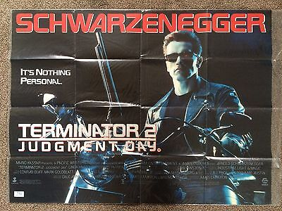 Terminator 2 T2 Original Quad poster Double sided