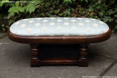 Titchmarsh Goodwin Solid Oak Bed Armchair Footstool Bench Seat Stand Settle Pew