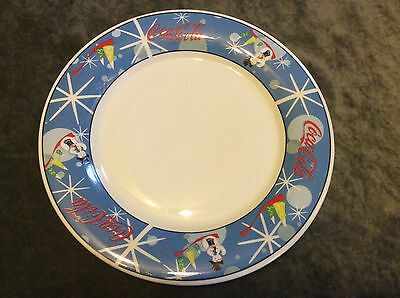 """11 1/4"""" Coca-Cola Laughing Snowman Serving Plate Christmas Coke Holiday"""