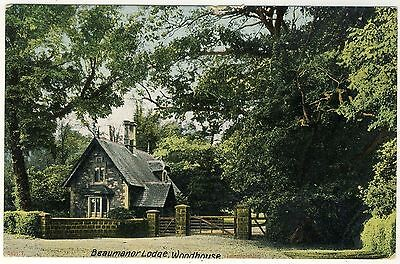WOODHOUSE - Leicester - BEAUMANOR LODGE - Edwardian 1905 used postcard