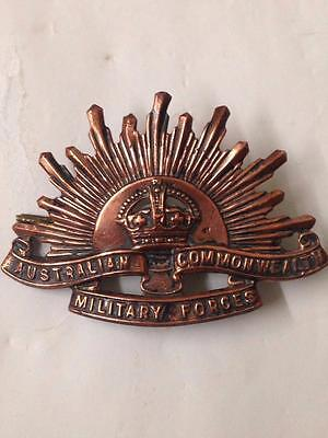 antique edwardian c1910 Australian commonwealth military forces medal  R4364