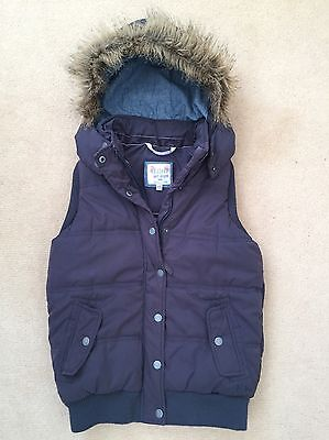 Fat Face Thick Padded Blue Hooded Gilet Age 12 - 13 12-13 Same/Next Day Despatch