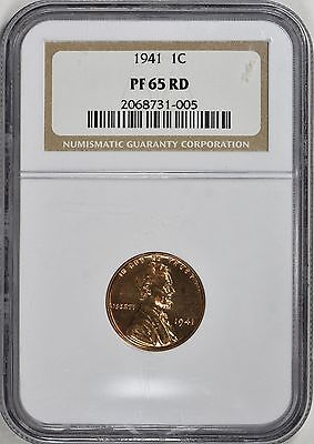 1941 Lincoln Wheat Cent NGC Proof  PF 65 RD
