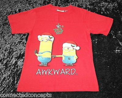 christmas despicable me minions awkward youth boys t shirt sizes