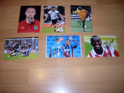 6 signed 6x4  photos of footballers