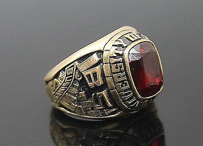 Josten's 2002 University Of Montana Solid 10K Yellow Gold Class Ring Size 7.25