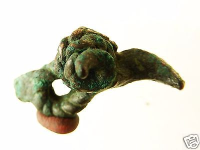 Ancient Bronze  Amulet - ram head (k267).