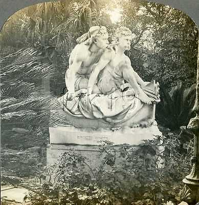Sicily ~ PALERMO ~ Sculpture The Brothers Canaris Stereoview 10876