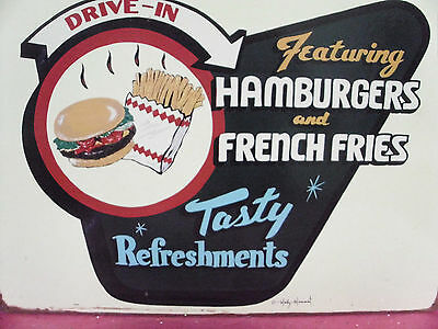 Restaurant Food MARTY Mummert sign decoration 50's vintage motiff estate